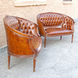 Italian Leather Settees