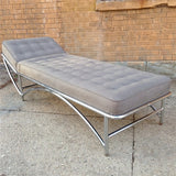 Chrome Chaise Lounge