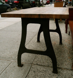 Industrial Butcher Block Table