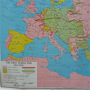 WWI History Map 1914-18