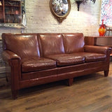 Sikes Leather Club Sofa