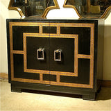 James Mont Leather Cabinet