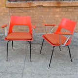 Fiberglass arm chairs