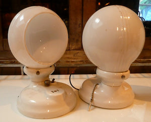 Vintage Porcelain Sconces