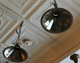 Mirrored Factory Pendant Lights