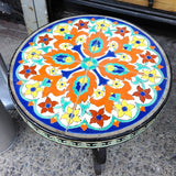 Round Ceramic Tile Table