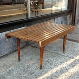 Slatted Maple Bench
