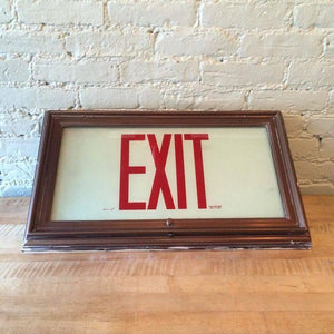 Flush Mount Exit Sign