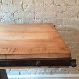 Industrial Butcher Block Console