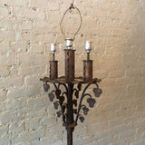 Antique Gothic Wrought Iron Floor Lamp Attributed To Samuel Yellin