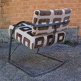 Upholstered Chrome Chairs