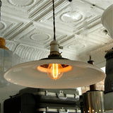 Curved Milk Glass Pendant Lights