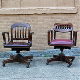 Vintage Wood Office Chairs