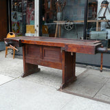 Industrial Cabinet Maker's Workbench Attributed to Hammacher Schlemmer