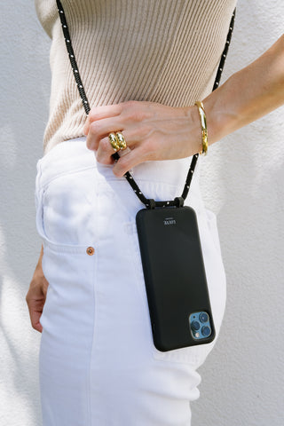 Smartphone cover with adjustable lanyard strap that is functional yet stylish for your phone