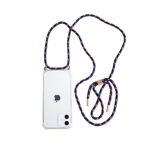 Corded phone case. personalise your phone. Phone case with cord. Biodegradable phone cases. Lilac phone accessories
