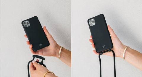 Corded phone case. Phone case with cord. Lanyard. strap. customise your phone