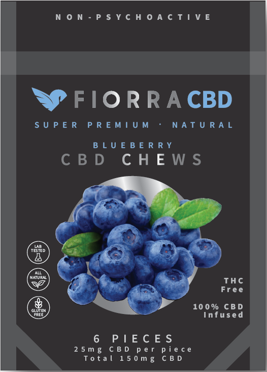 CBD CHEWS - BLUEBERRY (GLUTEN FREE) VEGAN FRIENDLY