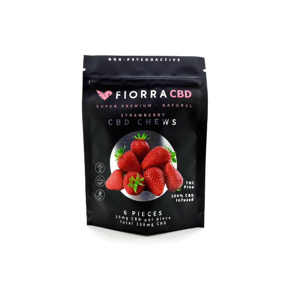 CBD GUMMIE CHEWS - STRAWBERRY (Gluten Free) Vegan Friendly