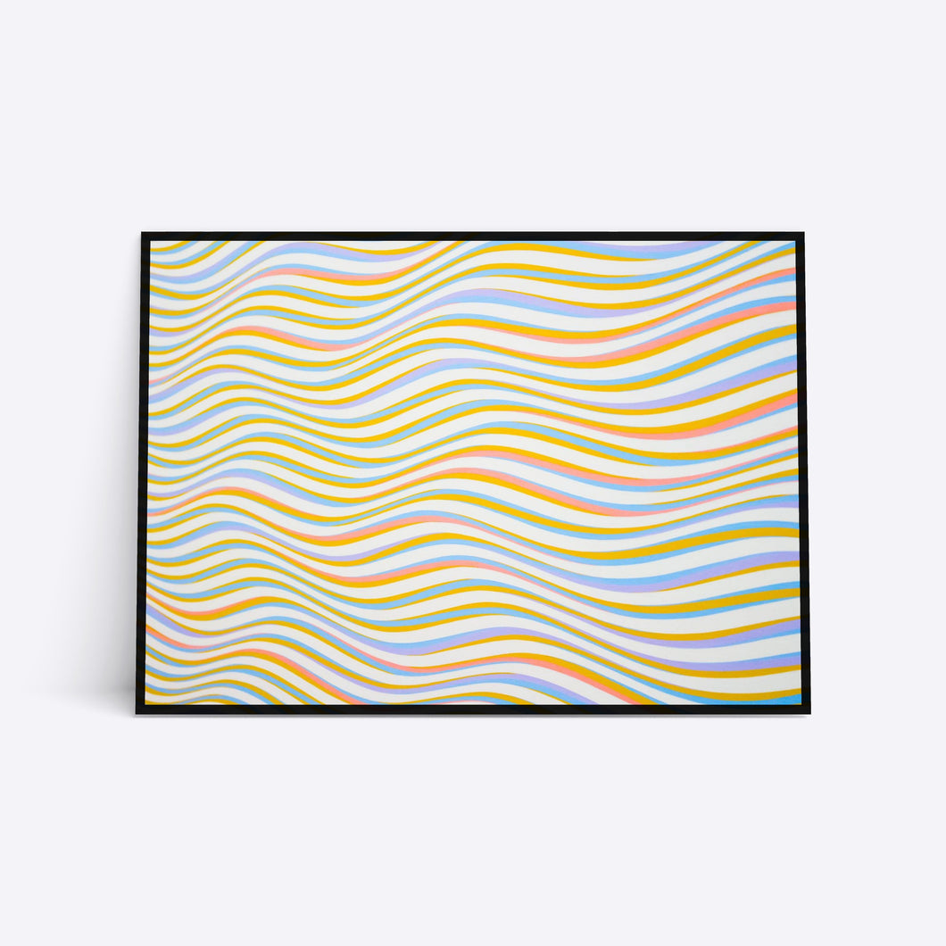 Colorful Waves farverig plakat i ramme