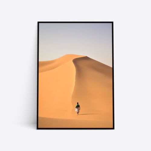 Walking in the Desert plakat i ramme