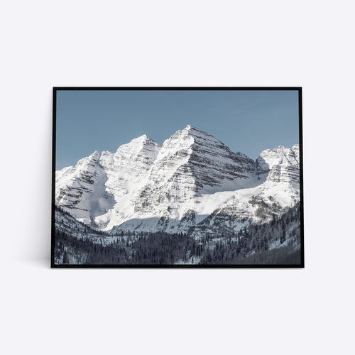 Snowy Mountains plakat i ramme