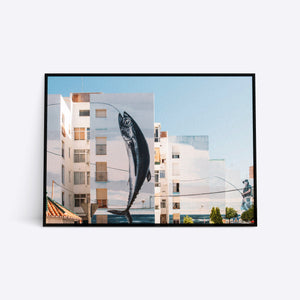 Great Catch arkitektur plakat i ramme