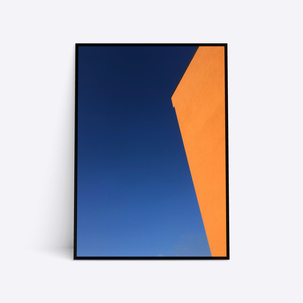 Orange Wall arkitektur plakat i ramme