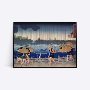 Heavy Rain illustration plakat i ramme