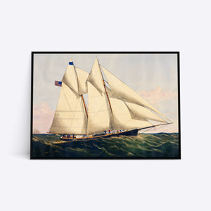 8 Sails and a Flag plakat i ramme