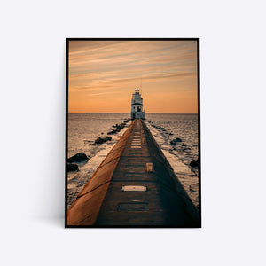 Lighthouse plakat i ramme