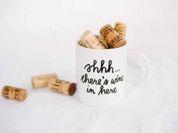 Shhhh, There's Wine in Here Mugs