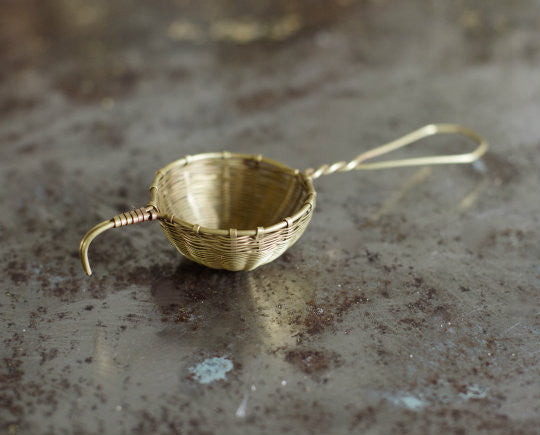Bellocq Brass Tea Strainer