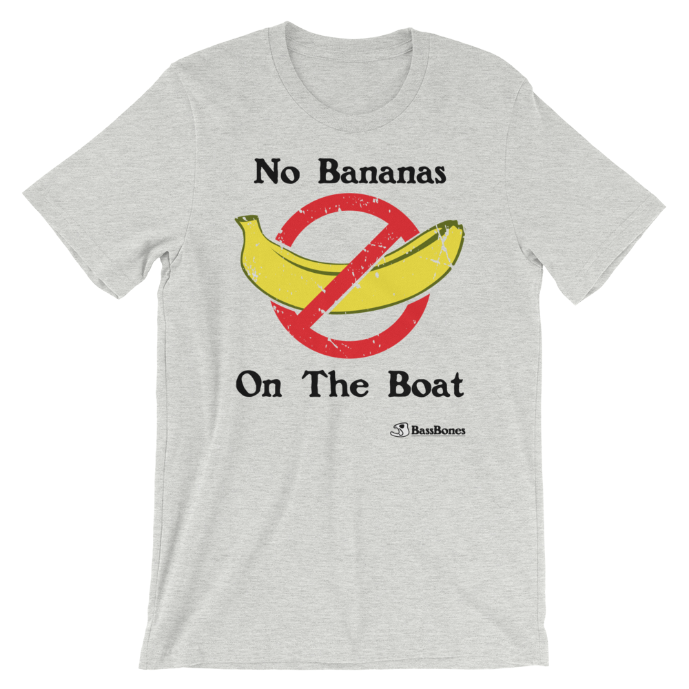 """No Bananas On The Boat"" Bass Bones Mens Fishing TShirt"