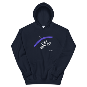 """JUST SKIP IT"" Bass Bones Mens Fishing Hoodie"