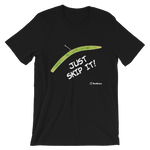 """Just Skip It Green"" Bass Bones Mens Fishing TShirt"