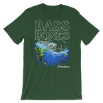"""Frog"" Bass Bones Mens Fishing TShirt"