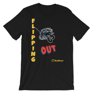 """Flipping Out"" Bass Bones Mens Fishing TShirt"
