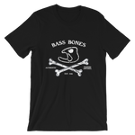 """Crossbones"" Bass Bones Mens Fishing TShirt"