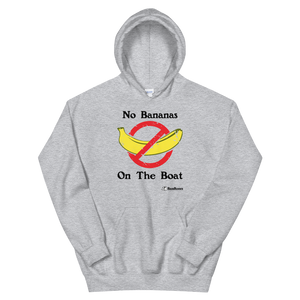 """No Bananas"" Bass Bones Mens Fishing Hoodie"
