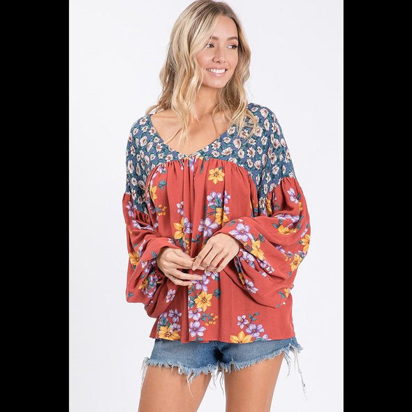 Hippy Chick Poet Top