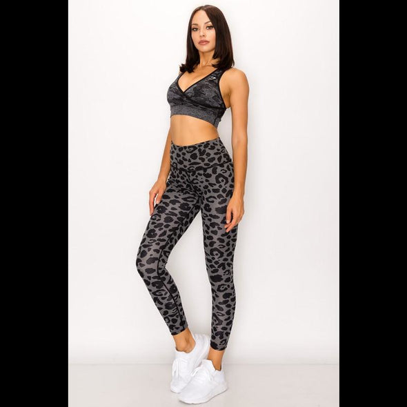 Carry Me Home Leggings in Grey Leopard