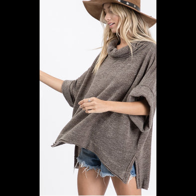 Swing Shift Hi Lo Top in Charcoal