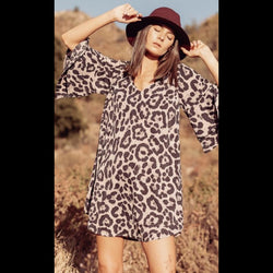 Serengeti Summer Sun Dress in Leopard