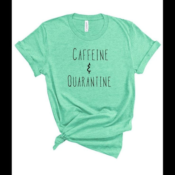 Caffeine and Quarantine Softstyle Graphic Tee