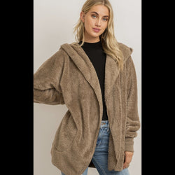 Walk Around the Ranch Fleece Jacket in Taupe