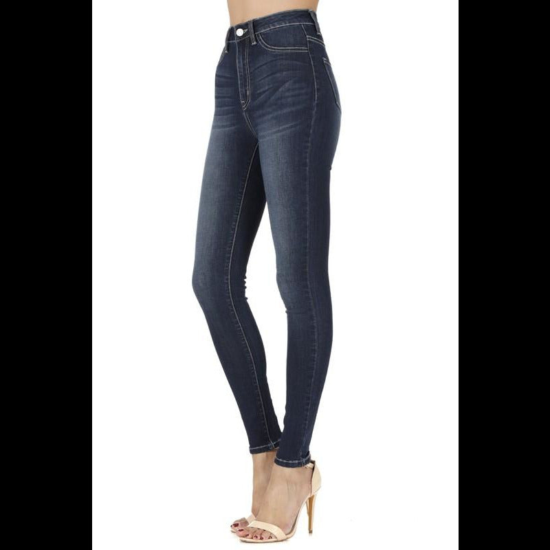 The Aubrey KanCan USA High Rise Skinny Jeans - Medium Wash