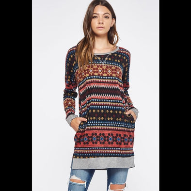 On the Run Tribal Print Dress