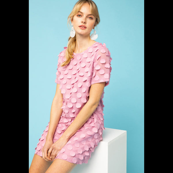 Sweet Savannah Shift Dress in Mauve
