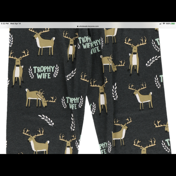 Trophy Wife PJ Pants in Black